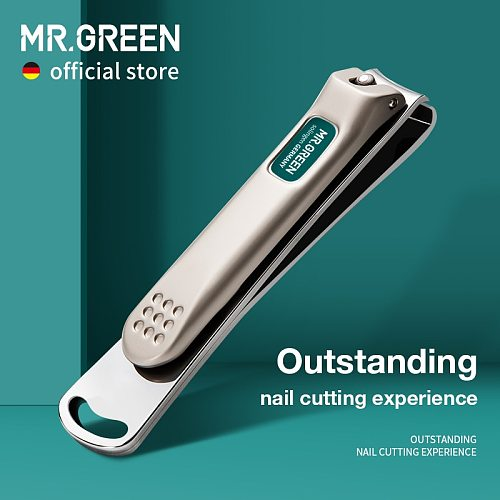 MR.GREEN Nail Clippers Stainless Steel Curved blade Clipper Fingernail Scissors Cutter Manicure tools trimmer with nail files