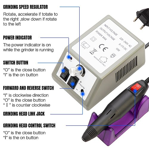 20000RPM Electric Nail Drill Machine Manicure Pedicure Drill Milling Cutter For Manicure Electric Nail Drill Bits Nail Equipment