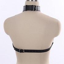 Women Leather Chain Lingerie ,Open Bust Body Harness Breast String Bra,Women's Sexy Clubwear,BDSM Bondage Restraints Strap