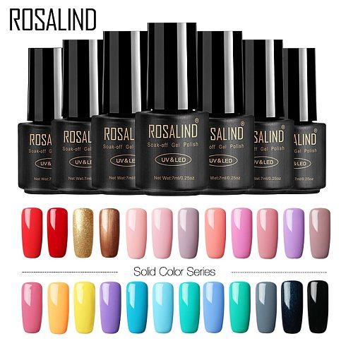 ROSALIND Nail Polish 7ML 58 Color Series Gel Nail Polish Nail Art UV LED Soak-off Gel Lacquer Vernis Semi Permanent Gel Varnish