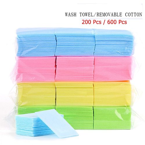 Nail Polish Remover Wipes Cleaning Lint Free Paper Pad Soak off Remover Manicure tool