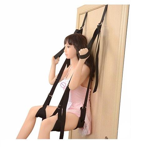 Sex Swing Door Swing Sexy Bondage Door Slam Adult SM Game Fetish Bondage Leg Open Spreader For Women Men Couple Chairs Hanging