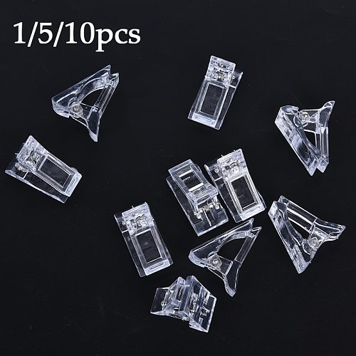 Drop Shipping 1/5/10pcs Nail Tips Clip Transparent Finger Building Gel Extension Nails Art Manicure Tool