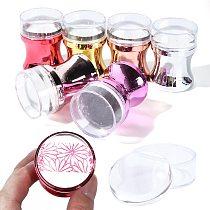 3pcs Silicone Nail Stamper Scraper Set Metallic Handle Nail Art Stamp Stamping Polish Print Manicure Image Plate Tool JI1033-1