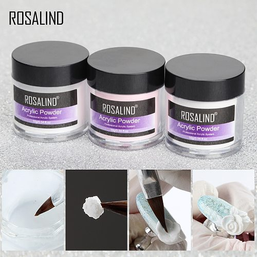 ROSALIND Acrylic Powder Poly nail Gel For Nail Polish Nail Art Decorations Crystal Manicure Set Kit Professional Nail Accesorios