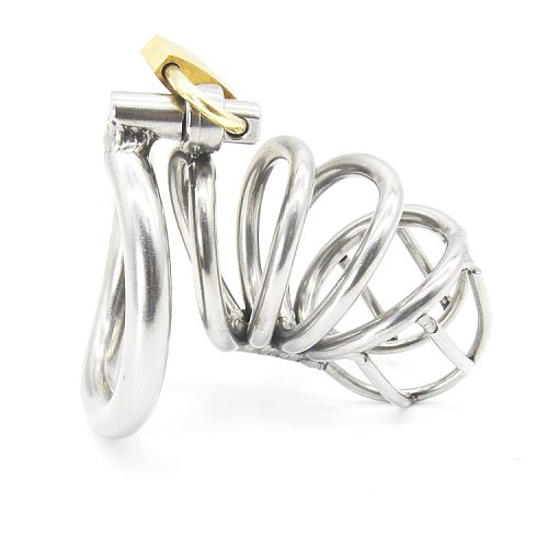 Stainless Steel Male Chastity device Adult Cock Cage With arc-shaped Cock Ring BDSM Sex Toy Bondage Men Chastity Belt A224-2