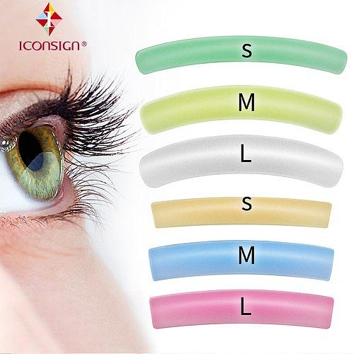 Colorful Lash Lift Pad 6 Size Flat S/M/L Curl S/M/L 12 Pcs ICONSIGN