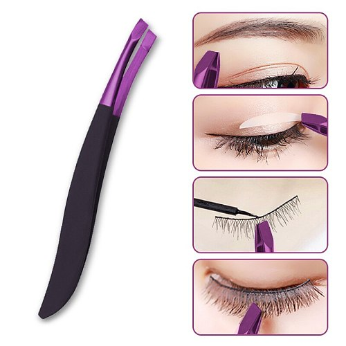 1PC High Quality Make Up Tools Pince A Epiler Eyebrow Tweezer Stainless Steel Slant Tip Eyes Tweezer Clip For Face Hair Removal