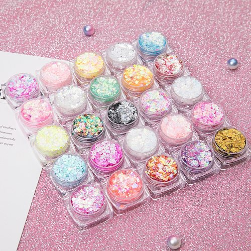 26 Colors Glitter Eyeshadow Powder Rainbow Gold Silver Pink Flake Long Lasting Waterproof Face Body Makeup seuqins gel