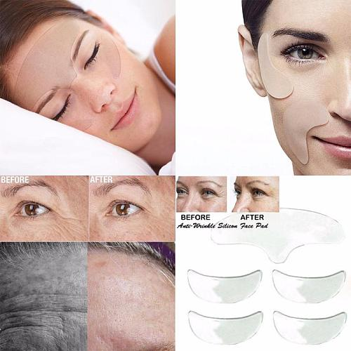 Face Neck Chest Anti Wrinkle Eye Face Pad Reusable Face Lifting Silicone Overnight Invisible Remove Lines Chest Not Stick