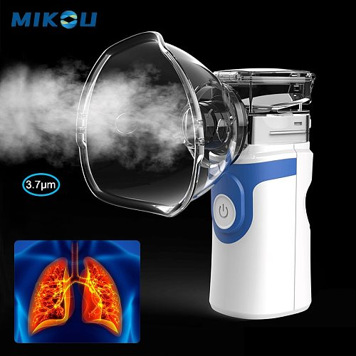Portable ultrasonic nebulizer inhaler Handheld silent medical atomizer for Baby Adult kids Asthma autoclean Inhale Humidifier