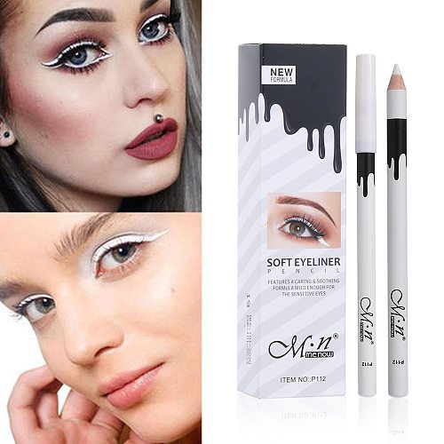 1Pcs New White Eyeliner Makeup Smooth Easy to Wear Eyes Brightener Waterproof Fashion Eyes Liner Pencils Eye Makeup Tool