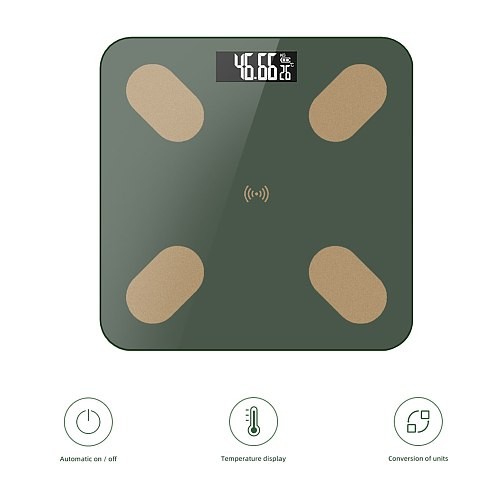 Body Fat Scale Body Weight Scale Large LED Display Body Composition Monitor Health Analyzer with Smartphone APP for Weight Loss