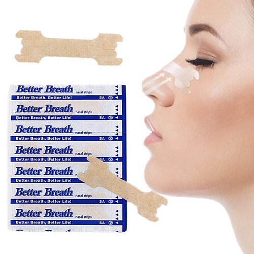 50pcs/lot(66x19mm) Stop Snoring Breathe Better Nasal Strips Right Way to Stop Snoring Help You Sleep Better Nasal Patch