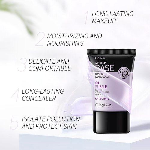 Laikou Isolation Cream Face Base Makeup Primer Liquid Matte Make Up Fine Lines Oil-control Facial Cream Brighten Foundation