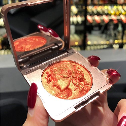 Cde Andy 2 Colors Blush Peach Pallete Face Blush Mineral Pigment Palette Cream Shining Blusher Face Red Shadow Cosmestics Powder