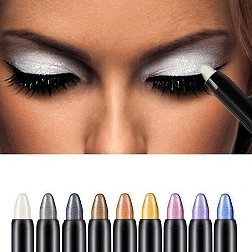 Women Fashion Beauty Waterproof Highlighter Eyeshadow Pencil Cosmetic Glitter Eye Shadow Eyeliner Pen Eyebrow Beauty Supplies