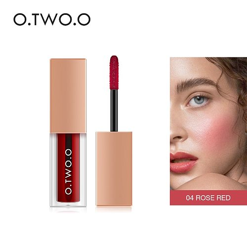 O.TWO.O Liquid Blush For Face Makeup Rubor Peach Palette High Pigment Easy To Wear Face Blusher Waterproof Korean Makeup
