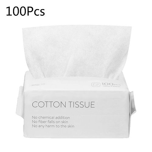 50/100pcs Disposable Face Towel Travel Cotton Makeup Wipes Facial Cleansing