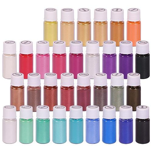 Biutee 32Color 5g Mica Powder Pigment Pure Pearl Epoxy Resin For Lip Gloss Cosmet metallic Color Blush Nail Art Resin Soap Craft