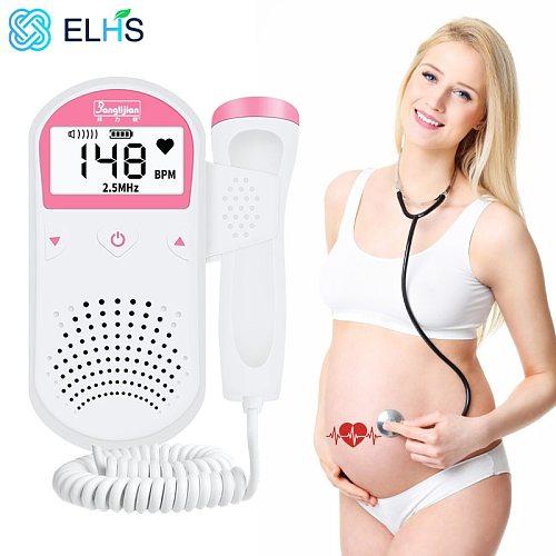 Doppler Fetal Baby Monitor Doppler for Pregnant Women Home Sonar Doppler For Pregnant Doppler Detector 2.5MHz No Radiation