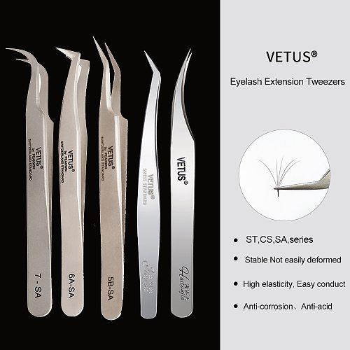 VETUS 1 Pcs volume lash Tweezers Stainless Steel Eyelash Tweezers for Eyelash Extension Eye Makeup Tools SA ST