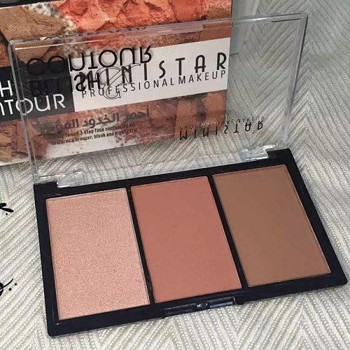 female face makeup matte shimmer face blush powder palette for highlighter blush contour facial cosmetics