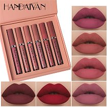 6Pcs/set Matte Lip Gloss Set Liquid Lipstick Waterproof Long Lasting Moisturizing Lipstick Women Lip Tint Beauty Cosmetics Set