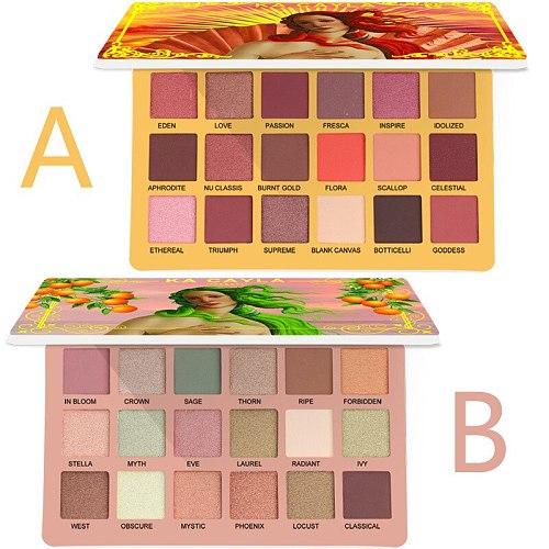18 Color EVA Eyeshadow Pallete Matte Shimmer Eyeshadow Waterproof Long-lasting Makeup Eyeshadow palette Cosmetics