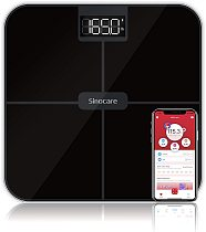 Sinocare Bluetooth Body Fat Scale,Smart Body Fat Electronic Scale ,0.1kg accuracy with 3 stone / kg / lb,Square ,LED Display,APP
