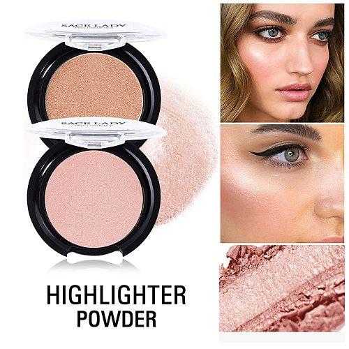 1 Pcs Shining Blush Smooth Makeup Face Contour Pink Orange Blusher WH998