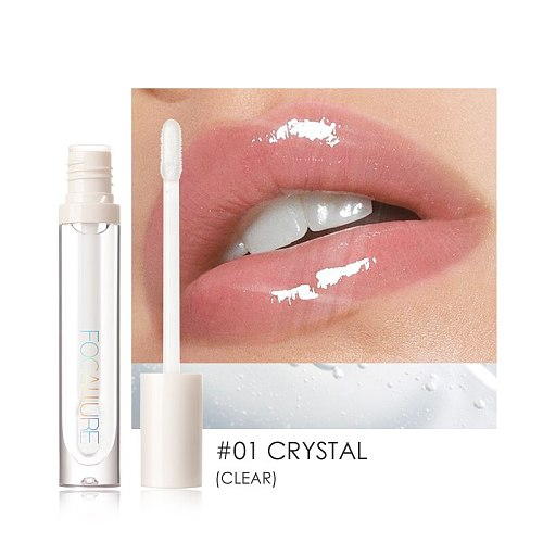 FOCALLURE PLUMPMAX Nourise Lip Glow Dewy Glossy Lip Care High Shine Not Sticky Refreshing Shimmer Lip Gloss Lips Makeup