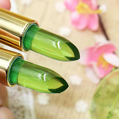 Pure Natural Aloe Vera Natural Moisturizer Lipstick Jelly Nutritious Lipstick  Temperature Changed Color Lipbalm Pink Protector