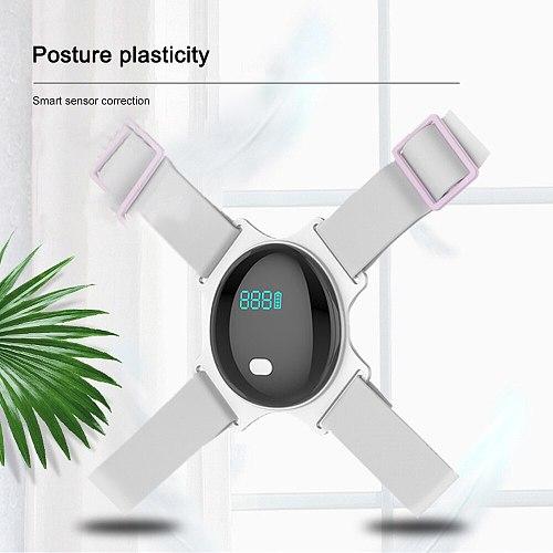 Smart Back Brace Posture Corrector Electric Adjustable Shoulder Correction Belt Posture Colum Under Clothes For Adult Kids