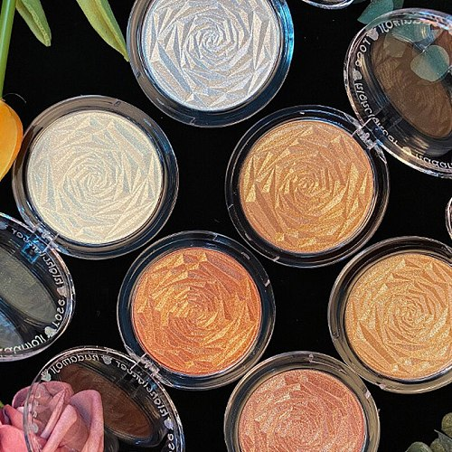 6 Colors Rose Highlighter Powder Palette Face High Gloss Shimmer Powder Bronzer Repair Haileyter Pallet Makeup Cosmetic