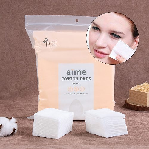 1000Pcs/Bag Cosmetic Cotton Pads Makeup Remover Silk Thin Cozy Soft Non-woven Facial Clean Nail Wipes Not Drop Debris Skin Care