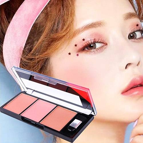 Face Blush Palette Combination Plate Natural Powder Rouge Women Makeup Brightening Lasting Durable Colors Blush Pigment Cosmetic