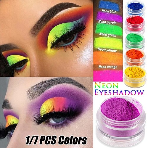 1Pcs Neon Eyeshadow Loose Powder Pigment Shimmer Shining  Eyeshadow Matte Mineral Nail Art Powder MakeUp Eye Shadow Accessory