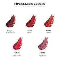 Matte Lip Glaze Large Capacity 6ML Makeup Lipstick Lip Gloss Long-Lasting Moisturizing Cosmetics Lipstick Red Lip Waterproof