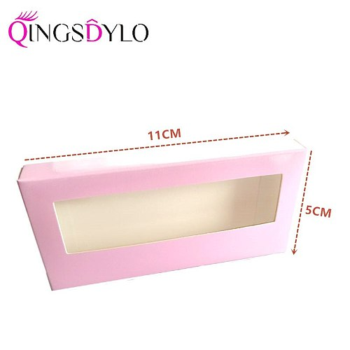 New Lashes Packaging without Logo Empty Cardboard Boxes Lovely Eyelash Packaging for 25mm 3D Mink Eyelashes