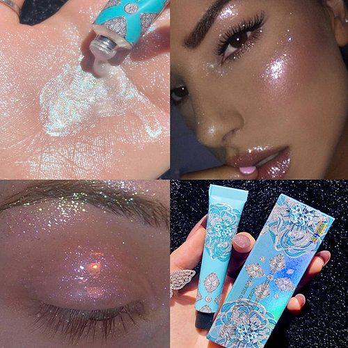 7g Highlighter liquid gold blue palette makeup glow contour shimmer powder Brighten face body highlighter makeup Liquid cosmetic