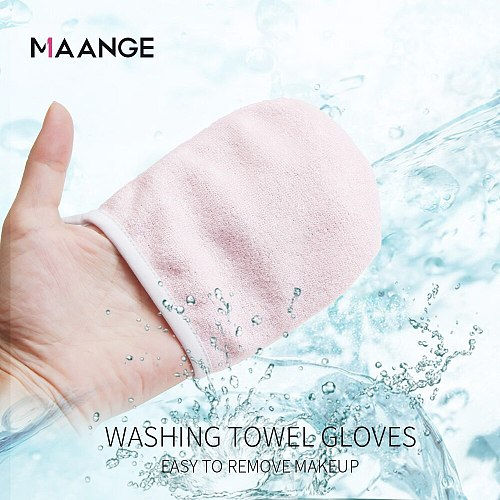 MAANGE 1pc Beauty Reusable Microfiber Facial Cloth Makeup Remover Cleansing Glove Tool Beauty Face Care Towel Cosmetic Puff New