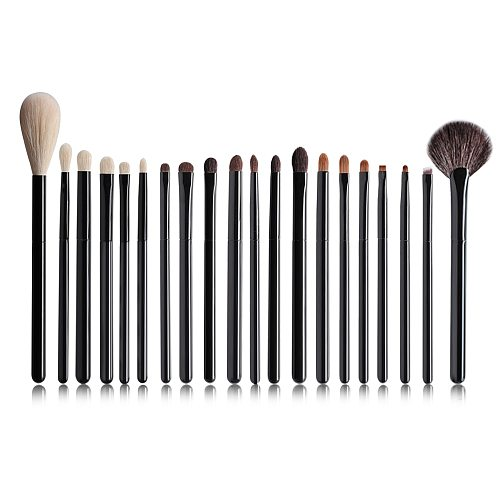 OVW 2 pcs Goat Professional Cosmetic Makeup Brushes Tools Natural Hair Black Painting Wood Handle brochas maquillaje pelo natura