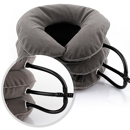 Inflatable Air Cervical Neck Traction Device Tractor Support Massage Pillow Pain Stress Relief Neck Stretcher Support Cushion