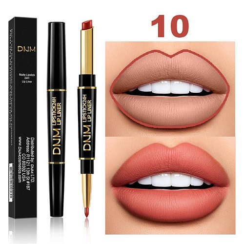 1PC Waterproof Matte Lipstick Pencil Lip Liner Makeup Contour Tint Sexy Red Lasting Moisturizing Makeup Contour Cosmetics TSLM2