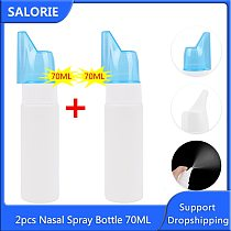 2pcs Nasal Wash Cleaner Neti Pot Spray Bottle for Nasal Washing Nose Sinus Allergies Cure 70ml Pain Relief Nose Care Therapy