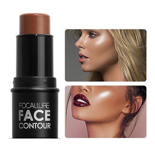FOCALLURE Highlighter pen Face Concealer Contouring Bronzer brighten 3D Contour Makeup Glow highlighter stick