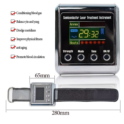 Household Healthy Laser Physiotherapy  Watch To treat Hypertension,Diabetes,Cholesterol,Cerebral Thrombosis Rhinitis instrument