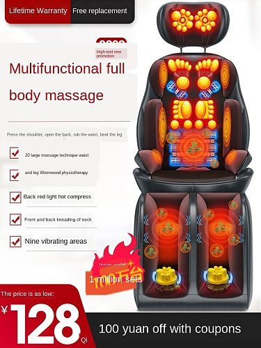 Lengthen increase neck massage full package hot compress relaxation treatments multi- functional car kneading chair cushion