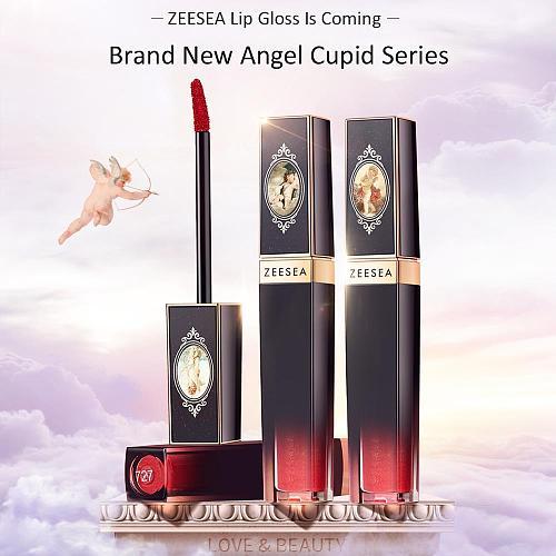 ZEESEA Angel Cupid Matt Velvet Moisturizing Nourishing Lip Gloss Waterproof Long Lasting Lip Glaze Liquid Lip Cosmetic